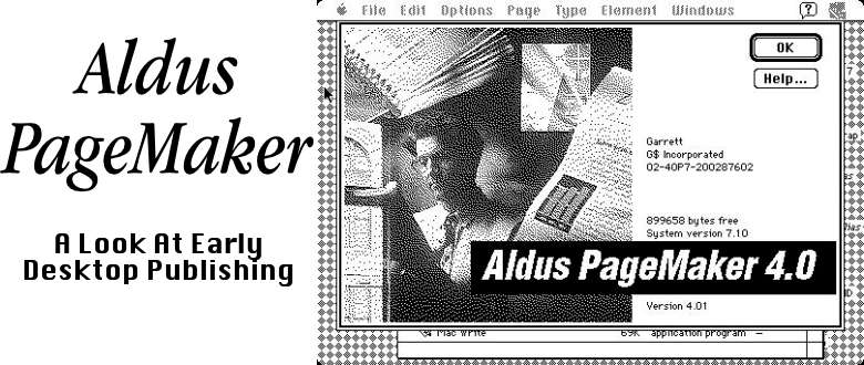 Aldus PageMaker: A Look At Early Desktop Publishing