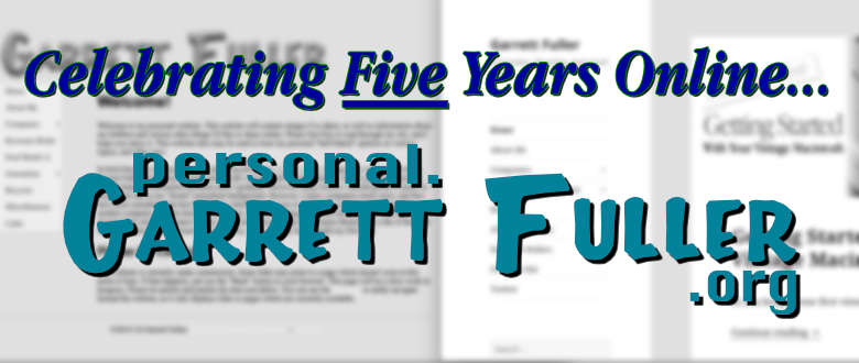 Celebrating 5 Years Online: Exploring the History of My Personal Website